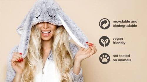 Vegan & Cruelty Free with MUVO haircare products
