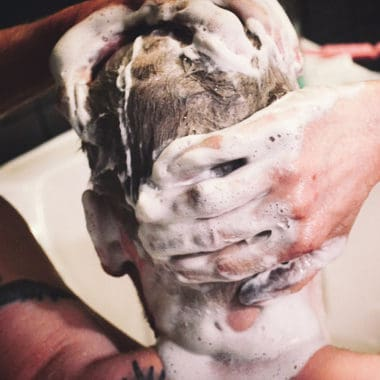 Deep Cleansing Shampoo is great for men too
